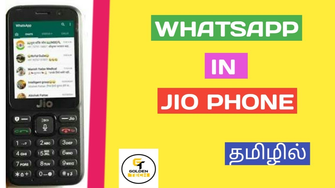 HOW TO INSTALL WHATSAPP IN JIOPHONE TAMIL || GOLDEN TECH || GT