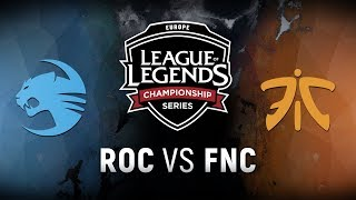 ROC vs. FNC  - Week 3 Day 2 | EU LCS Spring Split |  Team Roccat vs. Fnatic (2018)