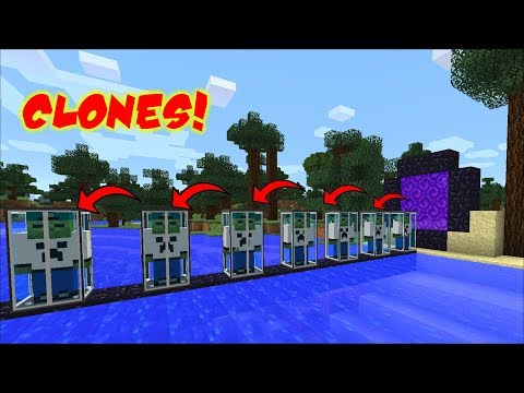HOW TO CLONE YOUR SELF IN MINECRAFT !! CLONE ZOMBIE MATTY !!