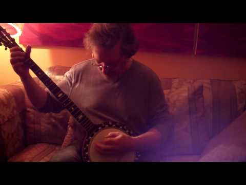 Carl Arcand on a right handed Windsor zither banjo