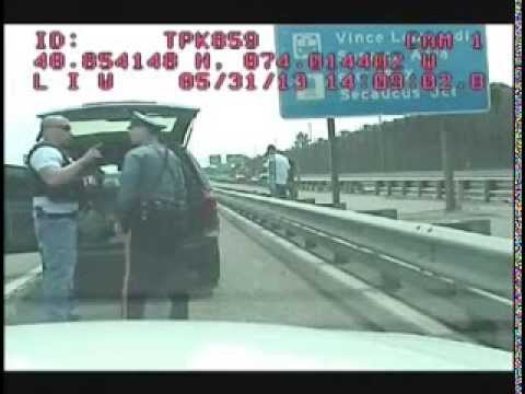 Dashcam shows cops fighting - Bergen County Police vs NJ State Police on Turnpike, 2013