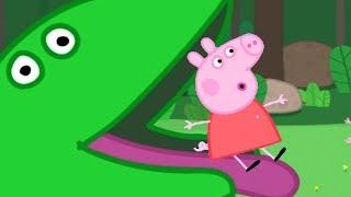 Peppa Pig English Episodes - Peppa Pig and Dinosaur | Peppa Pig Official