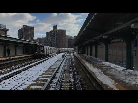 NYC Subway HD 60fps: R42 J Train Snowy Round Trip Railfan Window Ride w/ Annoying TSS (1/8/17)