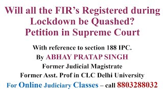 Section 188 IPC - Will all the FIR's be Quashed? | @INSPIREAPS