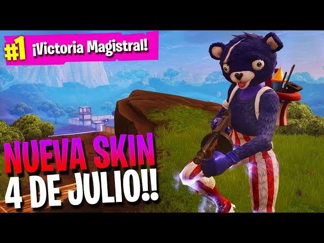NUEVA SKIN del 4 DE JULIO!!   FORTNITE: Battle Royale   Rubinho vlc