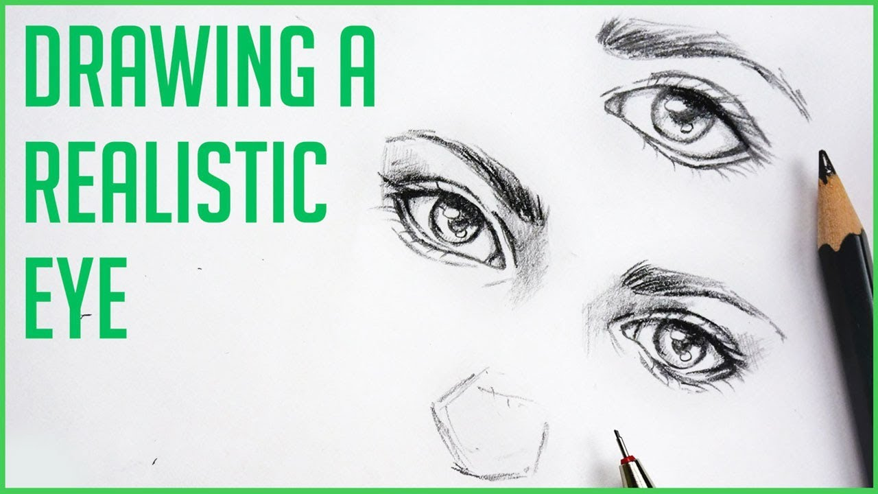 How to draw realistic eyes 【easy art drawing tutorial for beginners】