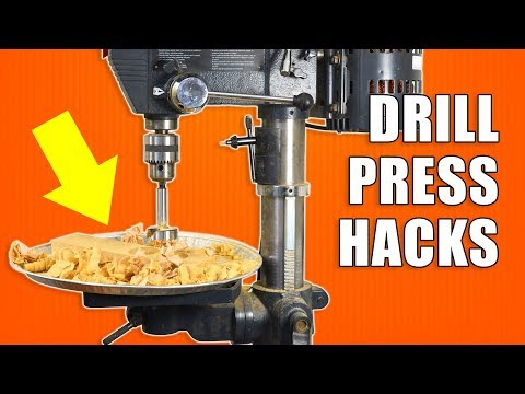 5 fast DRILL PRESS Hacks – Woodworking tricks and tips