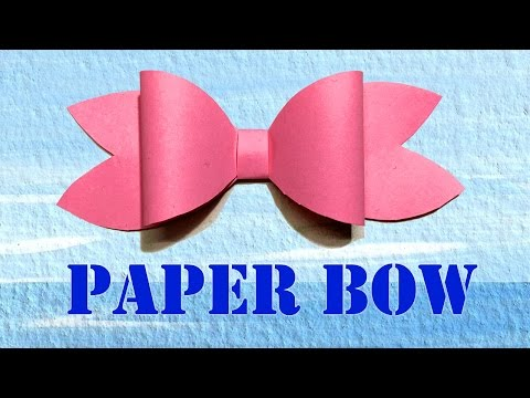 DIY Paper Decorations | Paper Bow/Ribbon | Easy Paper Crafts
