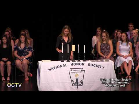 National Honor Society Induction Ceremony: 10-9-18