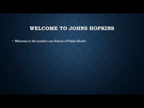 Are you coming to Johns Hopkins Bloomberg School of Public Health for an MPH?