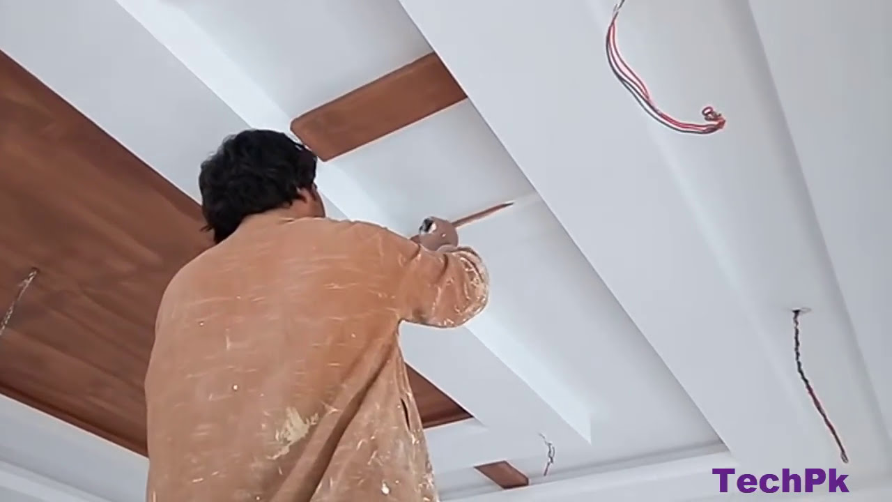 How To Paint On False Ceiling Youtube