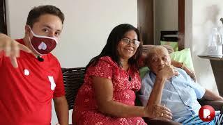 Repórter Potiguar visita idoso de 109 anos que viu Lampião