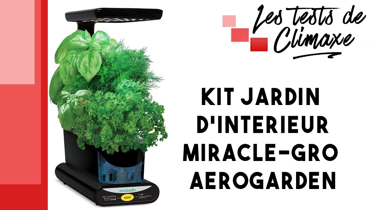 test d 39 un kit jardin d 39 int rieur miracle gro aerogarden pour maison ou appartement youtube. Black Bedroom Furniture Sets. Home Design Ideas