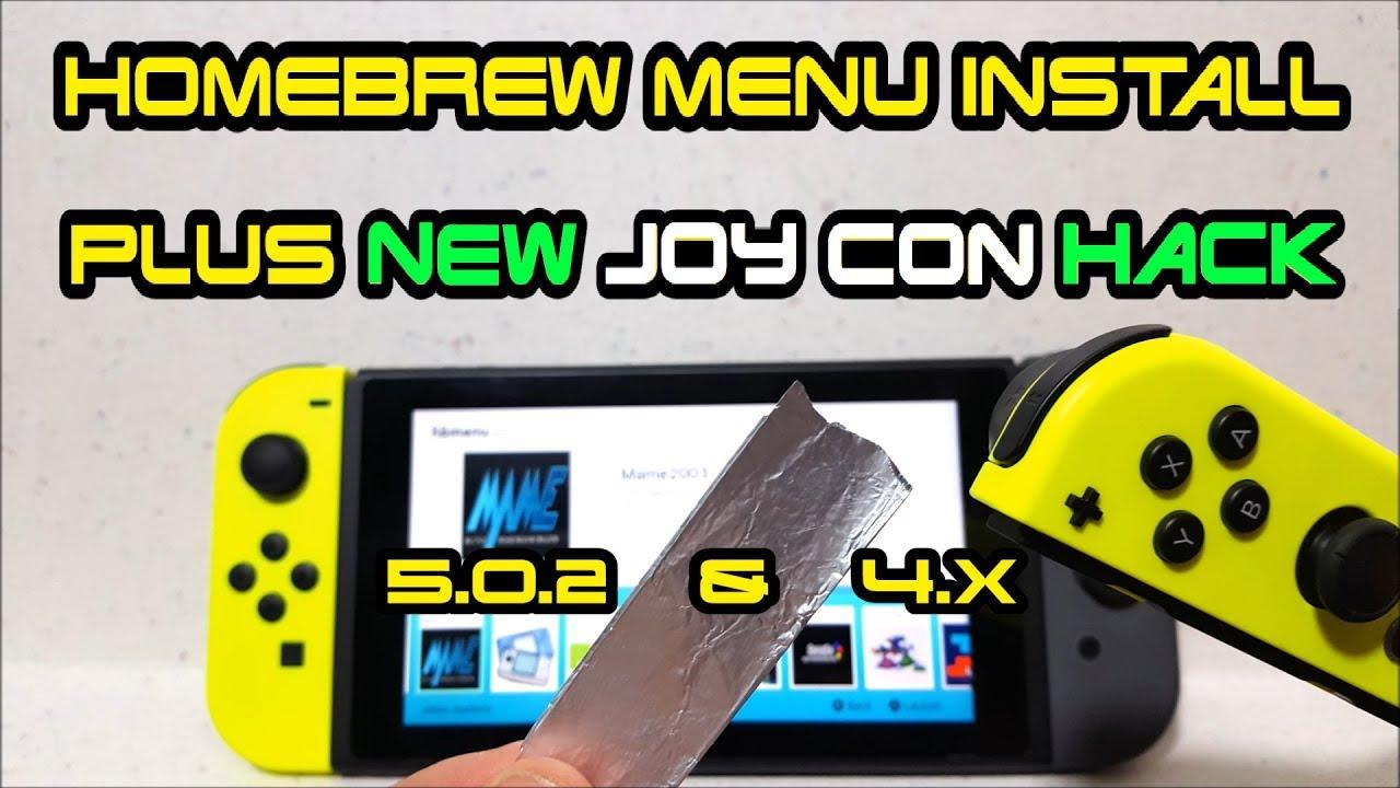 How to install HomeBrew Menu on Nintendo Switch + JoyCon Tin Foil Trick  1 0 0-5 1 0 firmware RCM