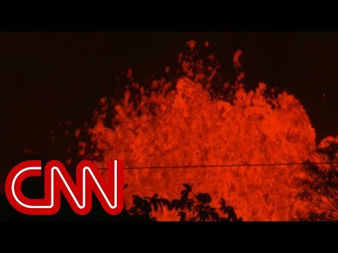 Volcano spews lava bombs as Hawaiian residents flee area