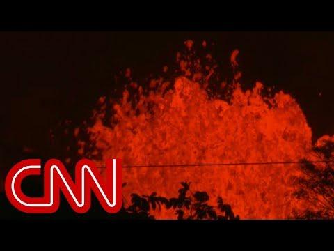 Volcano spews lava bombs as Hawaiian residents flee area
