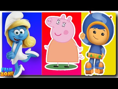 Thumbnail: Wrong Heads Learning Colors Peppa Pig Inside Out Anger Finger Family Nursery Rhymes Fun Zone