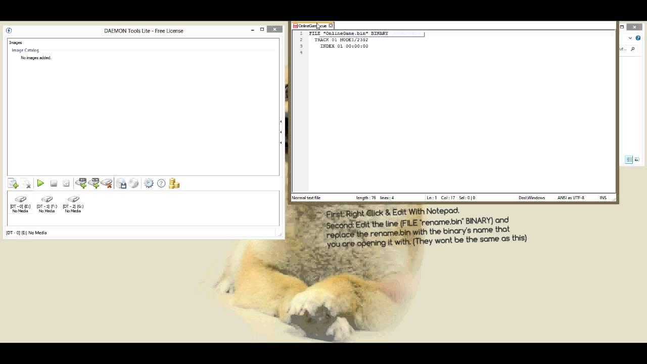 How to mount  cue files - FIX ERROR: