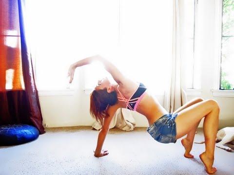 Beginner Power Yoga Class Weight Loss Abs Hatha Full length