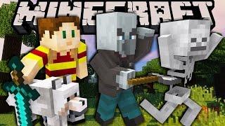 Minecraft Monster Apocalypse - Episode 6: Johnny Vindicator Guards & Wolf Hunting - (1.11 Survival)