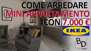 7.000 € DA IKEA | COME ARREDARE MINI APPARTAMENTO | Belula Design