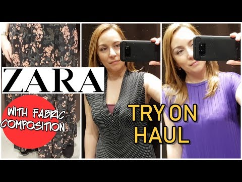 ZARA SPRING 2018 HUGE TRY ON/ALL CLOTHES WITH FABRIC COMPOSITION//FASHION VLOG N.28