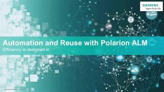 Siemens PLM  - Polarion ALM