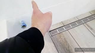 Обзор окончания ремонта в ванной комнате.