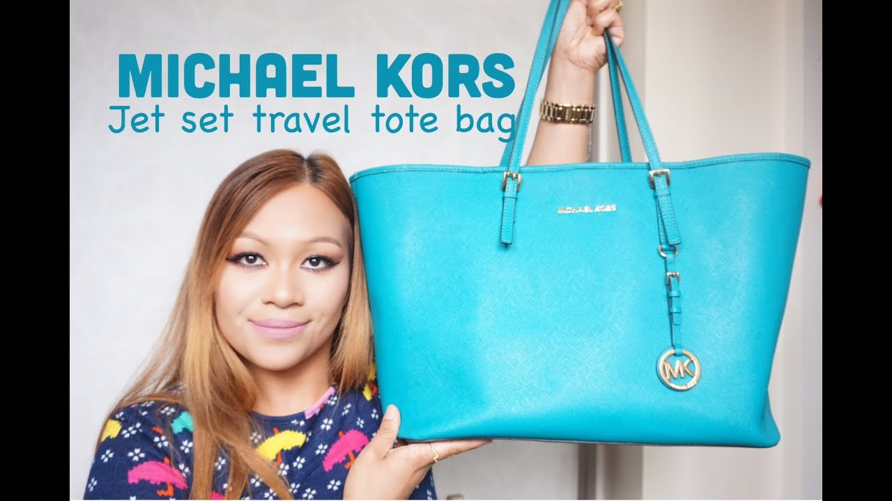 Michael kors tote bags philippines - What S In My Michael Kors Jet Set Travel Tote Bag Kristel Jenkins