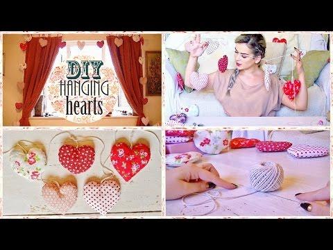 DIY - HANGING HEART ROOM DECORATION | LAUREN IVRY