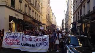 #FrontSocial manifestation contre Macron et ses euro ordonnances à Lyon #loitravail 2.0
