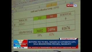 BP: Botong yes to BOL, nanaig sa Cotabato city; mga residenteng pro-BOL, nagbunyi