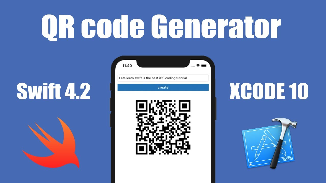 QR code Generator in swift 4 2 ios xcode