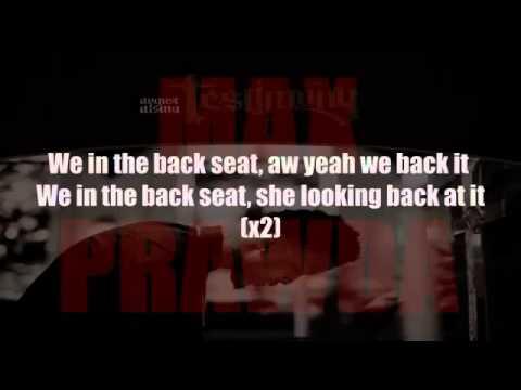 August Alsina - Backseat ( LYRICS ON SCREEN )