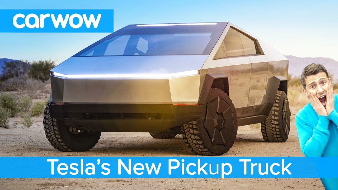 All New Tesla Pickup Truck 2021 See Why The Cybertruck Ev Is An F150 Raptor Slayer Youtube
