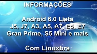 Samsung - Lista de atualização Android Marshmallow 6.0 - Português