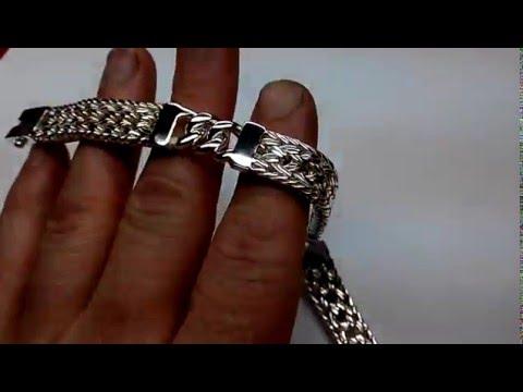 Посылка №8-9. Серебряный мужской браслет с AliExpress. и протирка для кларнета/флейты