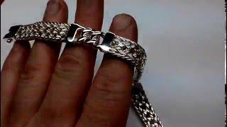 Браслет из серебра тайский со вставками. Ручная работа