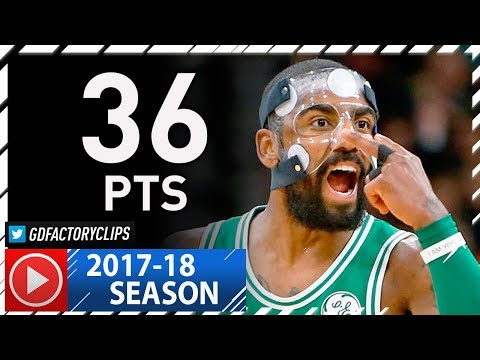 Masked Kyrie Irving Full Highlights vs Spurs (2017.12.08) - 36 Pts