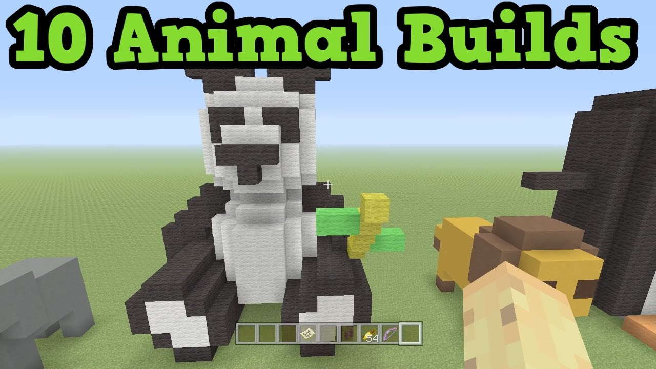 Minecraft 10 Animals How To Build Them Youtube