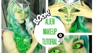 Alien / Spacegirl Halloween Makeup Tutorial | Halloween Monat