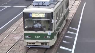 広島電鉄 800形812号車 本川町電停付近にて 20171113
