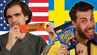 Americans & Swedes Swap Snacks