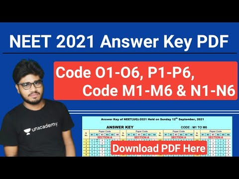 NEET 2021 Live Updates - Answer keys - NEET 2021 Answer Key PDF P1,P2,P3,P4,P5,P6, O1,O2,O3,O4,O5,O6, M1,M2,M3,M4,M5,M6, N1,N2,N3,N4,N5,N6