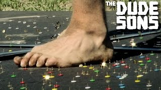 Download Video BRUTAL Thumbtack Track Challenge! - The Dudesons MP3 3GP MP4