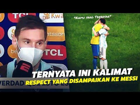 RESPECT Dan FU***K !!! Ternyata Inilah Yang Dikatakan Neymar Pada Messi Usai Argentina Juara Copa