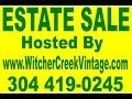 Witcher Creek Vintage Estate Sale January 31 Feb 1 2 Virginia Ave SE Kanawha City mp3
