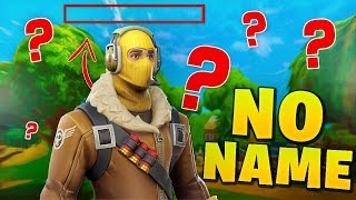 Playing Fortnite with NO NAME - Fortnite Funny Moments