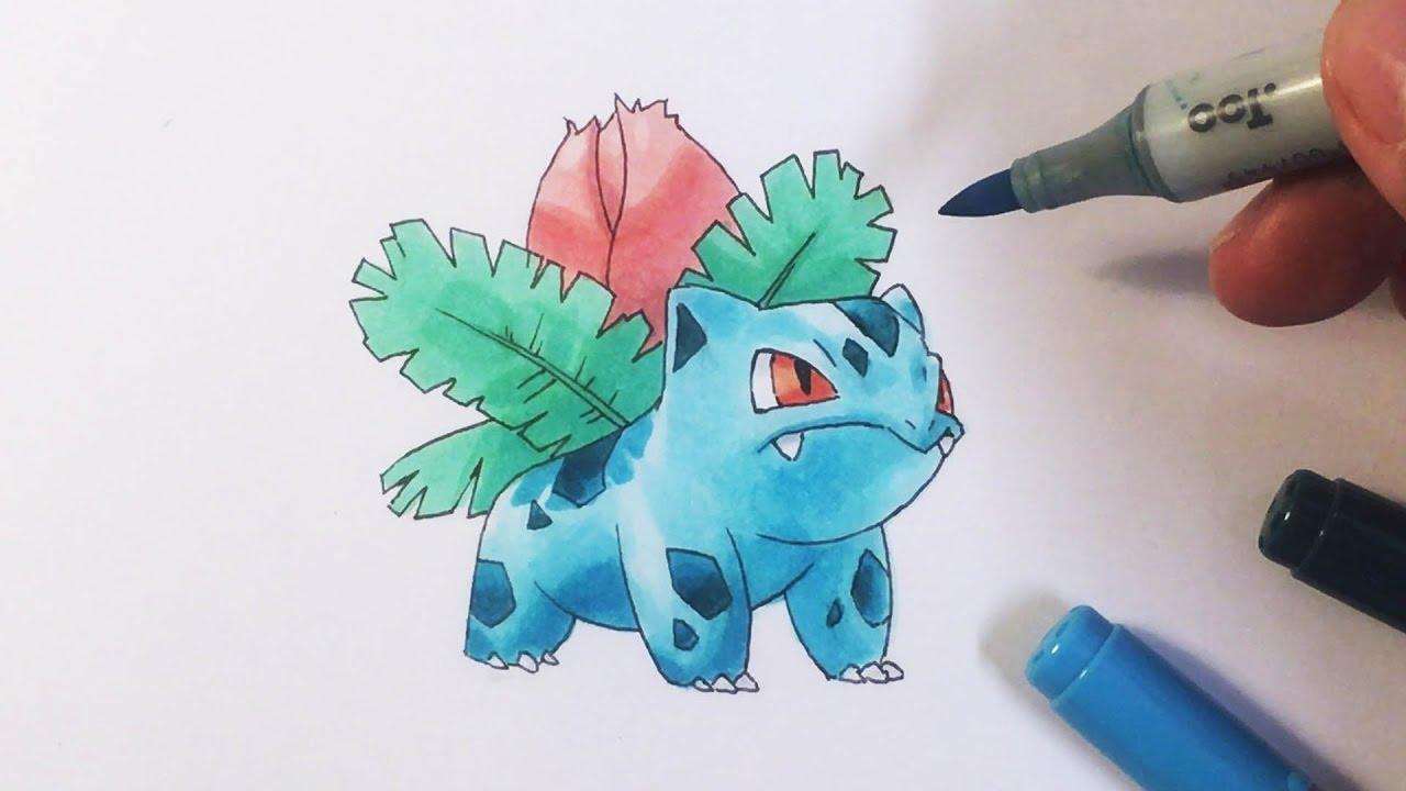 Pokémon Zeichnen 002 Bisaknosp Youtube