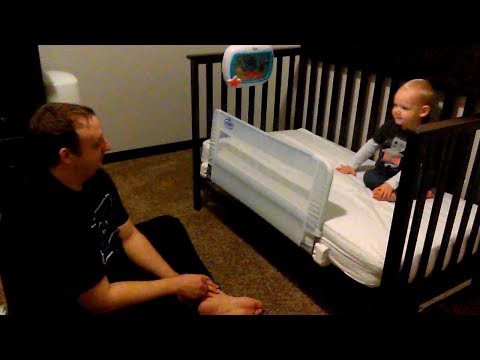Convert Graco Freeport Crib to Toddler Bed | Attach Regalo Crib Rail